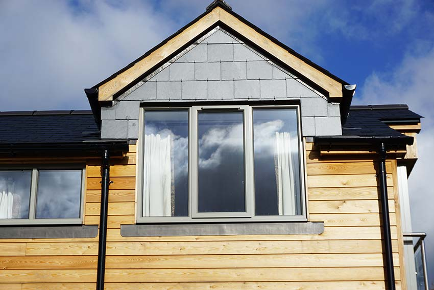 Grey aluminium modern windows Smarts
