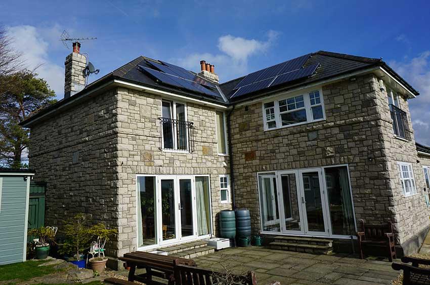 Tilt & Turn windows on stone cottage