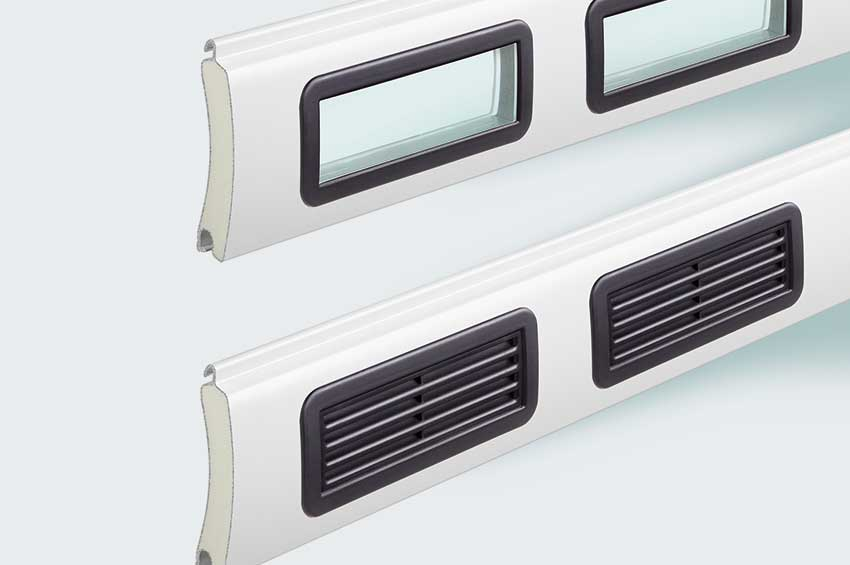 Garage door vents and windows