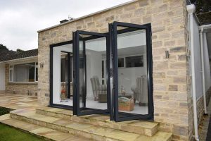 DARK GREY BI-FOLD DOORS