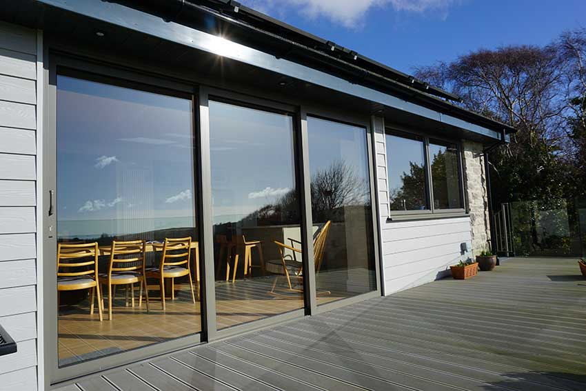 SMART ALUMINIUM GREY PATIO DOORS