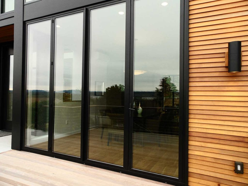 Black Sunflex SF55 bi folding glass Door