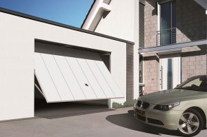 WHITE up & over GARAGE DOOR