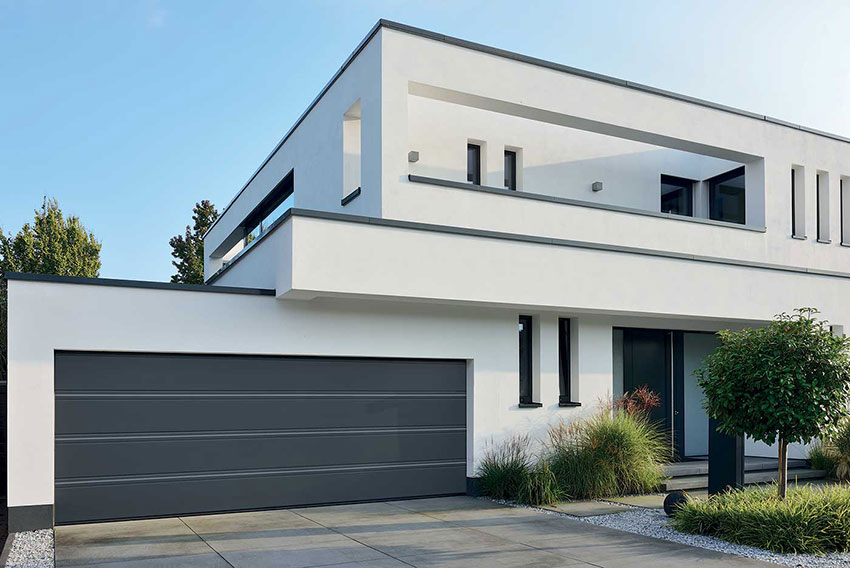 Hormann grey sectional garage door