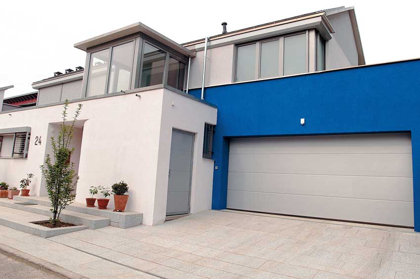 Light grey Hormann sectional garage door