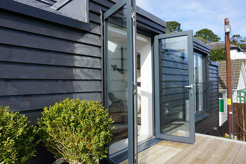 Smart aluminium french doors