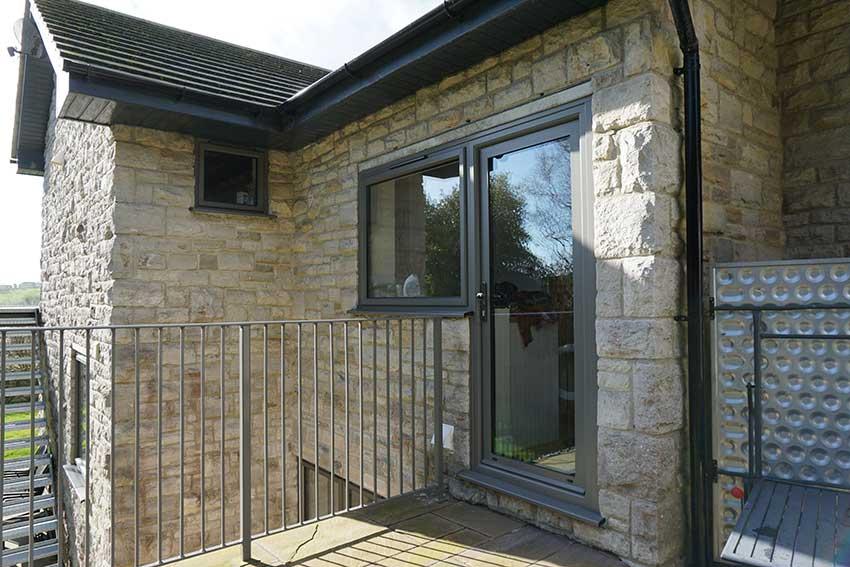Smart aluminium grey modern front door