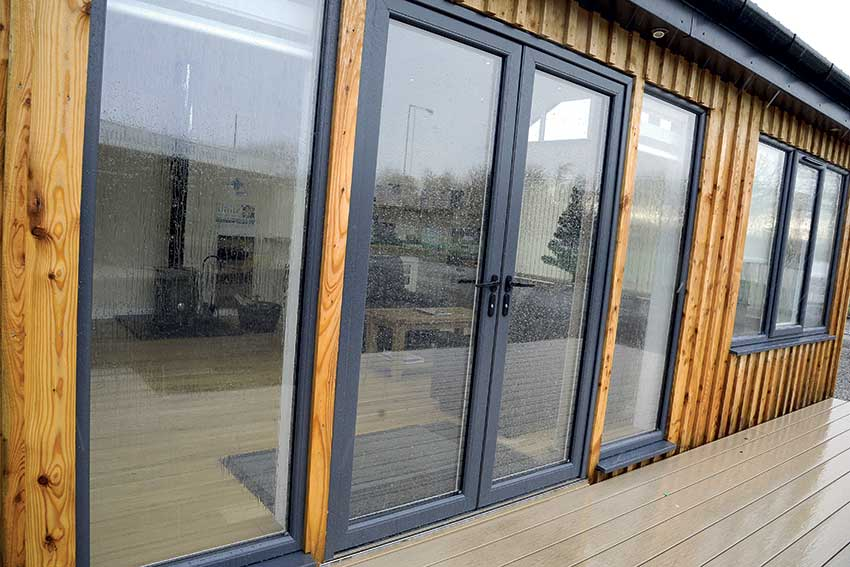 Veka grey pvc French Doors