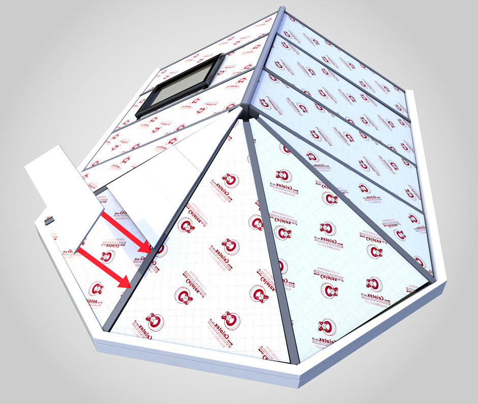 Insulated warm roof boards for conservatory