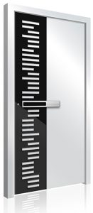 Black white RK aluminium front door