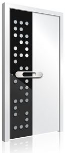 Black white aluminium front door