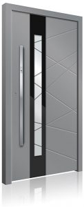 RK3020 grey aluminium front door