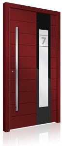 RK3060 red aluminium front door