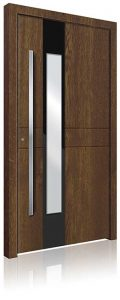RK3080 wood effect aluminium front door