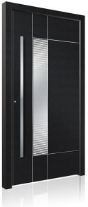 RK4040 black aluminium front door