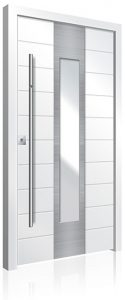 RK4070 white planked aluminium front door