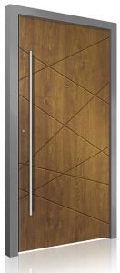 RK4110 wood effect aluminium front door