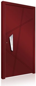 RK4120 red aluminium front door