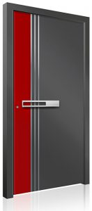 RK4220 red grey aluminium front door