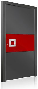 RK4270 red and grey aluminium front door