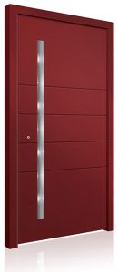 RK5000 red aluminium front door