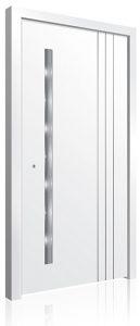 RK5010 white aluminium front door