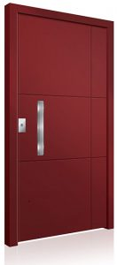 RK5060 red aluminium front door