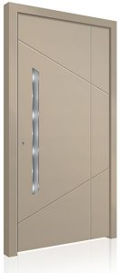 RK5070 cream aluminium front door