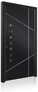 RK5080 black aluminium front door