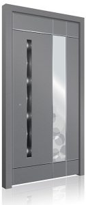 RK5120 light grey aluminium front door