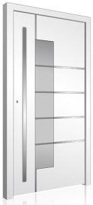 White RK aluminium front door