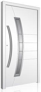 RK190 white aluminium front door