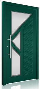 Green front doors design