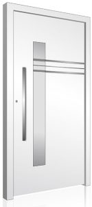White contemporary RK aluminium front door