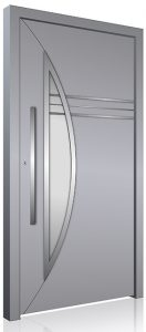Grey Security RK aluminium front door