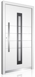 Secure aluminium front door