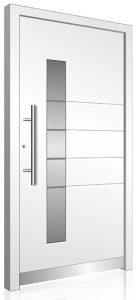 White modern Aluminium front door