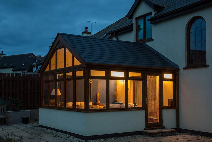 Slate Leka warm roof at night