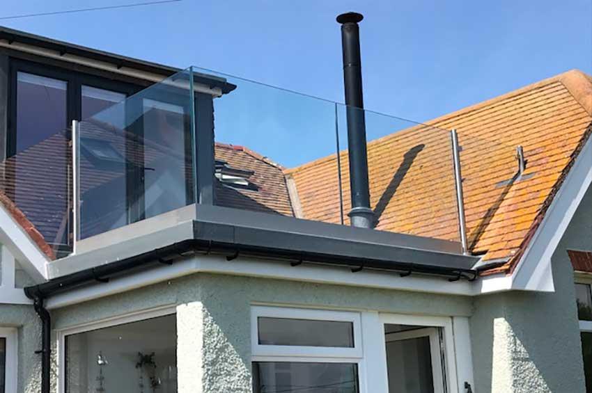 glass balustrades q railings from heavers dorset. Black Bedroom Furniture Sets. Home Design Ideas