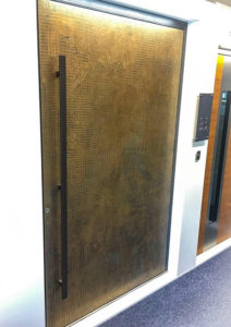 RK Aluminium Pivot Door in Bronze