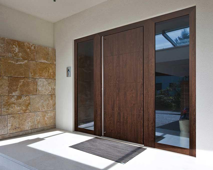 internorm timber aluminium front door