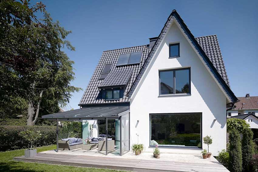 Solarlux glass canopy